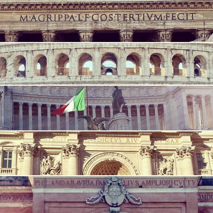 #rome #pantheon #colosseum #trevifountain #altaredellapatria #pamphili #colosseo #fontanaditrevi - from Instagram