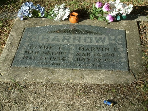 Western Heights Cemetery in Dallas, TX--Clyde Barrow Gravesite
