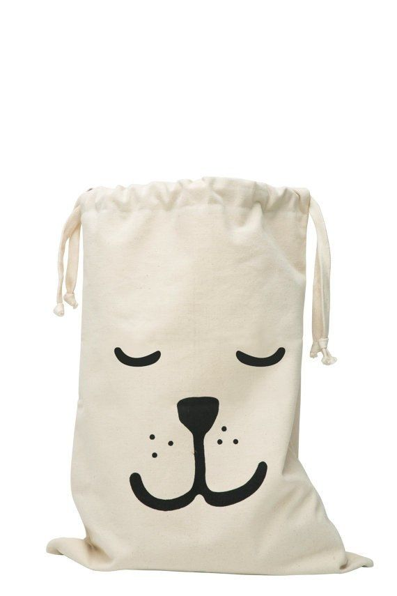 Fabric Storage Bag - Sleepy Bear
