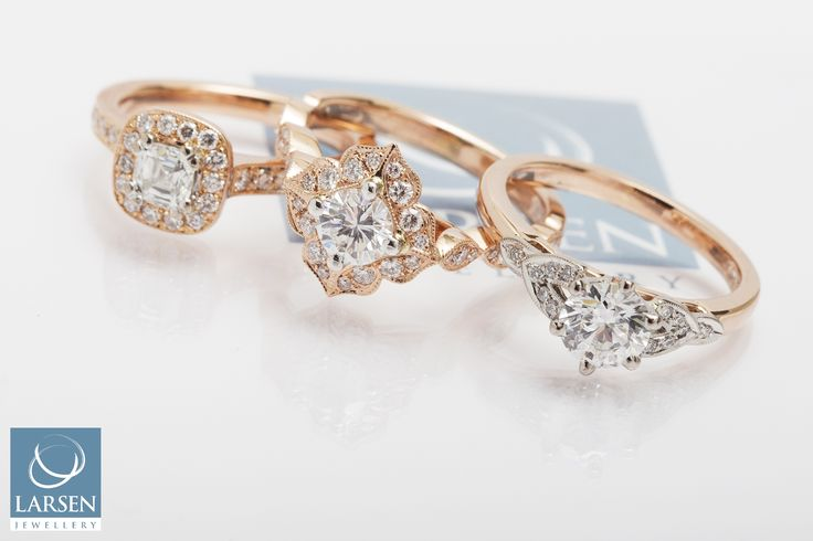 We're a little obsessed with Rose Gold at the moment! Can you tell? Which one would you choose?   For more Rose Gold love, view our gallery: http://www.larsenjewellery.com.au/engagement-rings/rose-gold  #jewellery #rosegold #larsenjewellery #sydney #melbourne #australia #rings #engagementrings #pinkgold