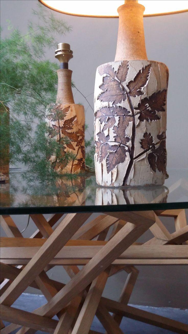 A cery nice pair vinatge table lamps, Denmark, Marie Bodil Nielsen