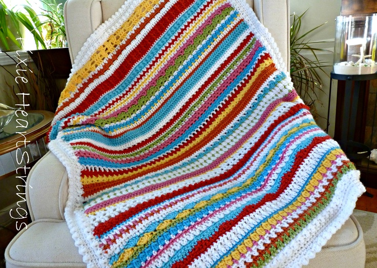 The 190 best crochet stripe afghans images on Pinterest | Crochet ...