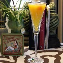Mimosa... champagne et jus d'orange... irrésistible !