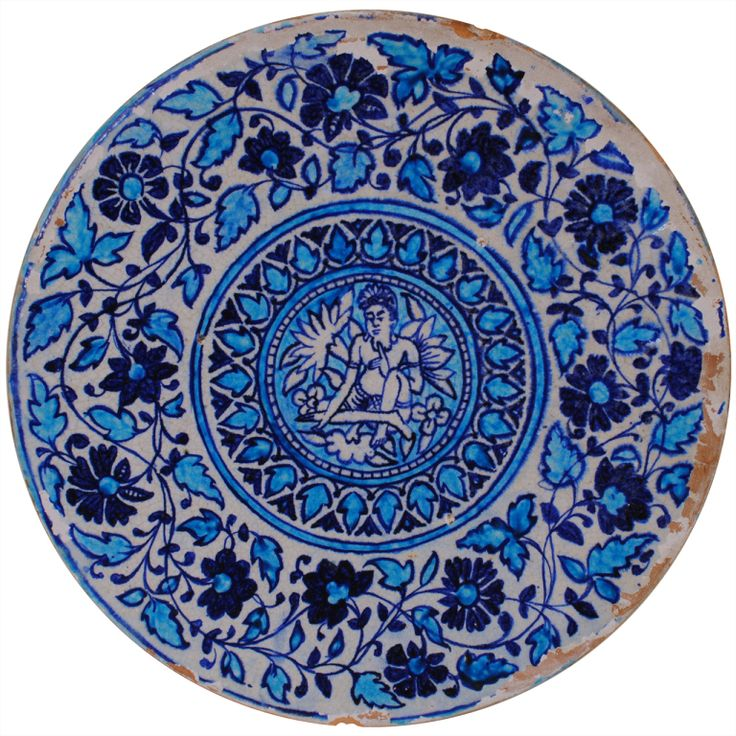 1stdibs | A 1st Half 19th Century Moroccan Painted & Glazed Ceramic Charger