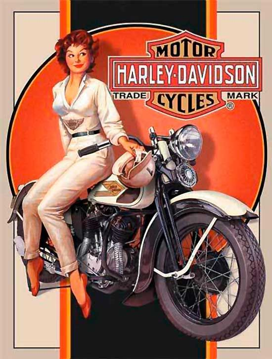Harley Davidson Motorcycles - Motorcycle Pin Up