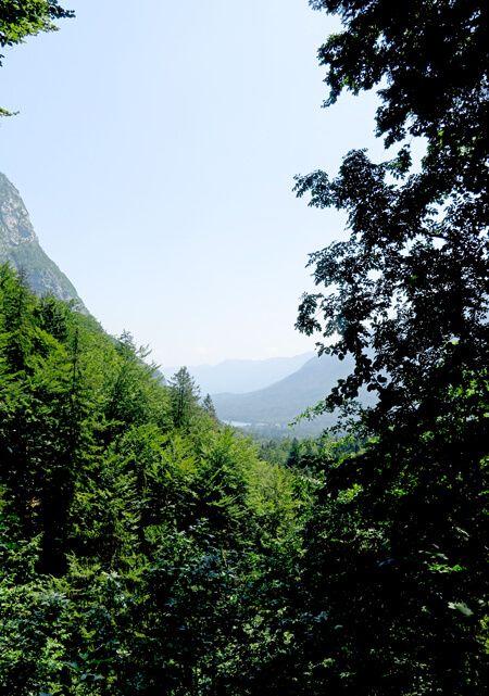 actieve vakanties in de bergen met uitzicht over Bohinj meer in Julische Alpen; bron Mijn Slovenië