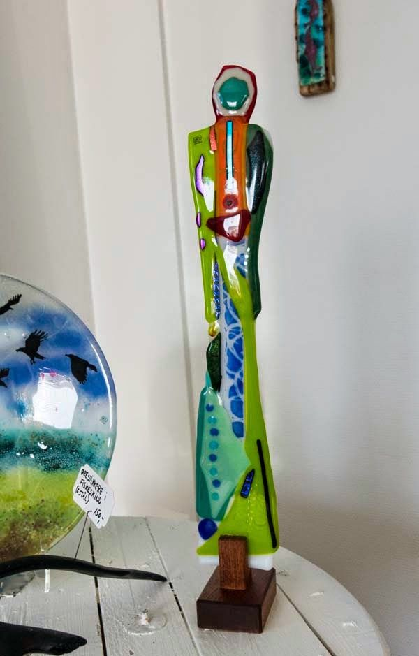 Fused glass - woman about 50 cm high