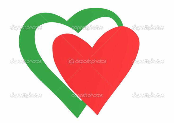 Downloaden - Hart vlag van Italië doodle stijl — Stockbeeld #52273911