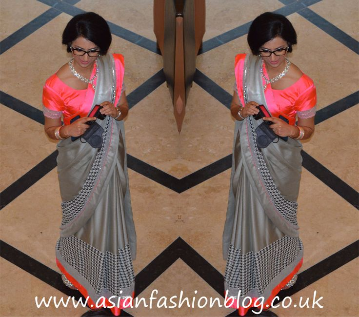 Silver sequin and pink monochrome sari! Asian Fashion Blog: AFB Family Wedding - The Walima