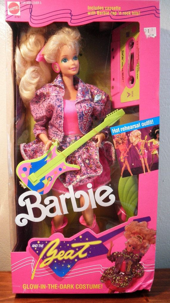 Vintage Barbie and the Beat - 1989 - NIB new in the box - with cassette - Glow in the dark costume. $30.00, via Etsy.
