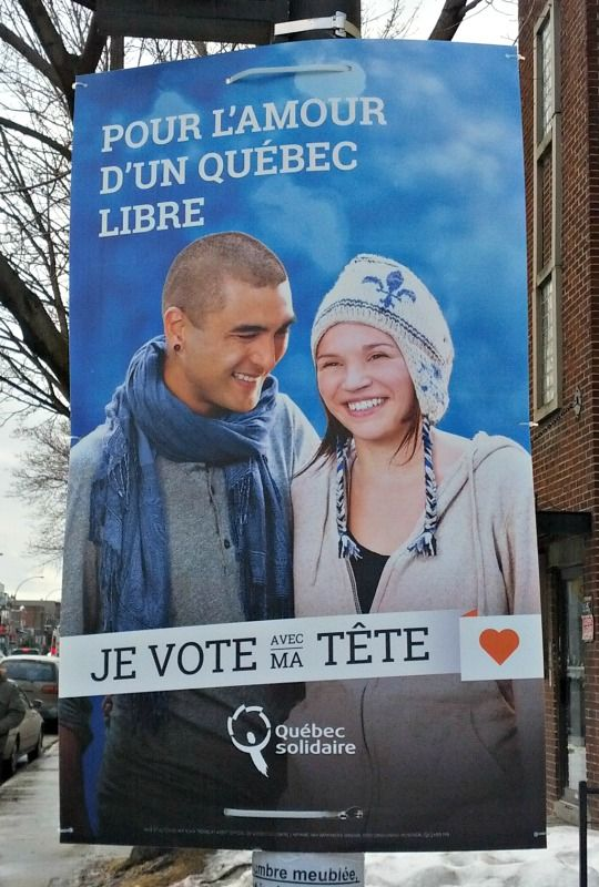 What do election signs in Québec look like this year?