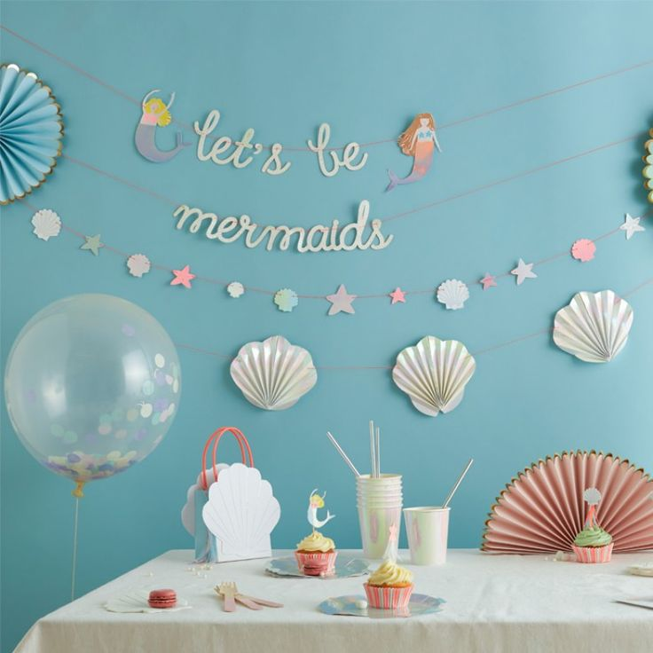 Lets Be Mermaids Confetti Balloon Party Kit