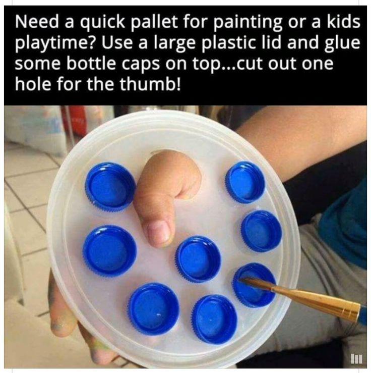 Kid paint pallet