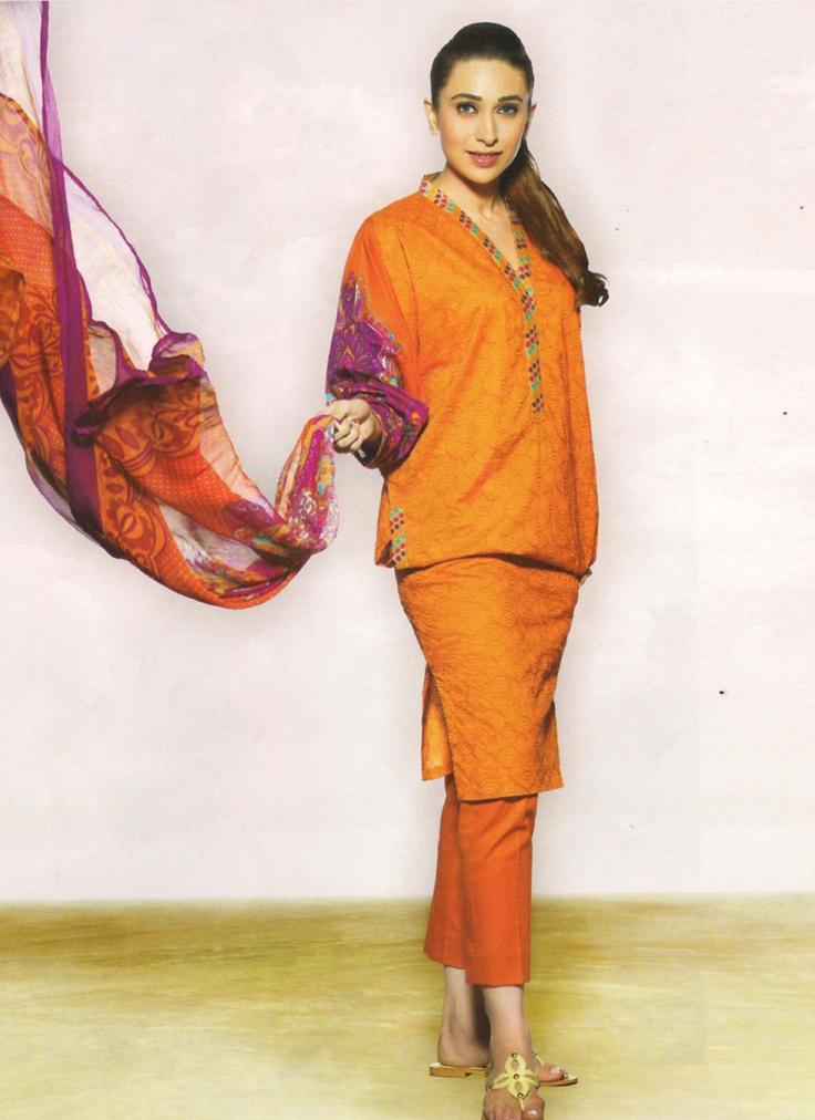 Glamorous Orange Pakistani Suit By Faraaz Mannan