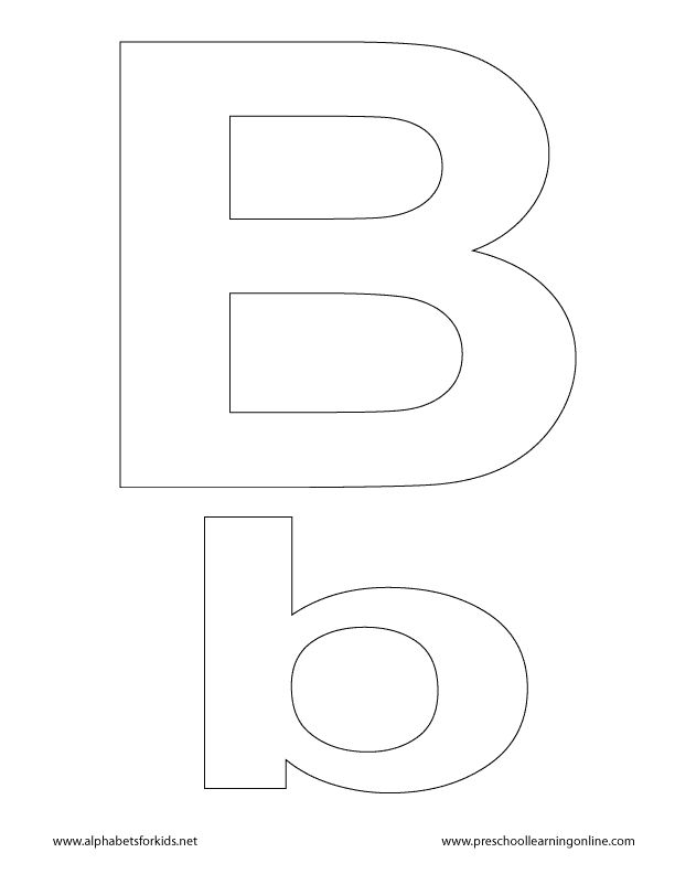 letter b lowercase uppercase letters for kids preschool learning resources pinterest. Black Bedroom Furniture Sets. Home Design Ideas
