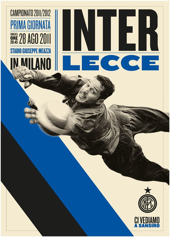 for Inter Milan football club. The studio behind the work, Leftloft, has been working with Inter for a couple of years, so I thought readers might like to see more of what they have been doing for the club    The 'Ci Vediamo a Sansiro' (We'll see you at (Inter's ground) San Siro) poster campaign (one above, featured on p81 of The Annual) has been running since the beginning of the current season.