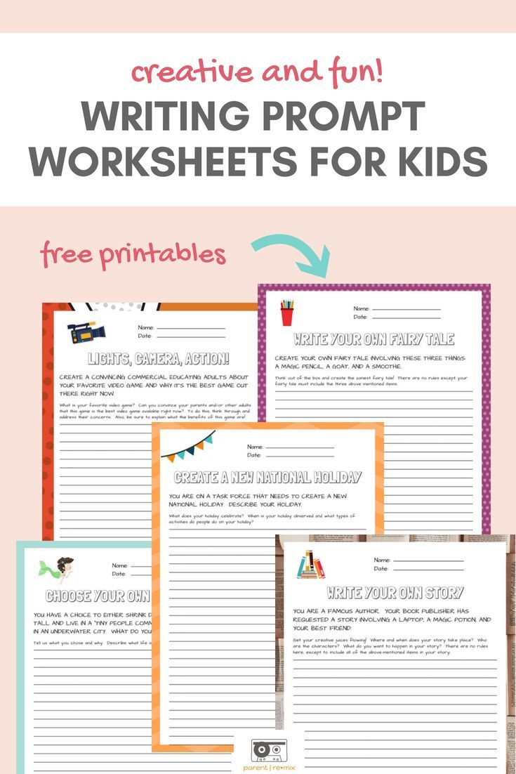 Writing Prompts For Kids Get Their Creative Juices Flowing With One Month Of Fun Writing Printable Worksheets Parent Re Mix Writing Prompts For Kids Writing Prompts Writing Prompts Funny [ 1102 x 735 Pixel ]