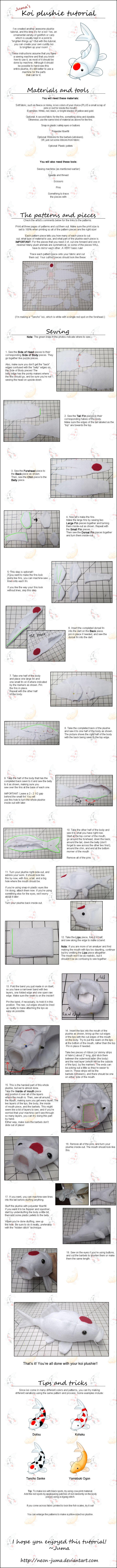 Koi plushie tutorial by Neon-Juma on DeviantArt