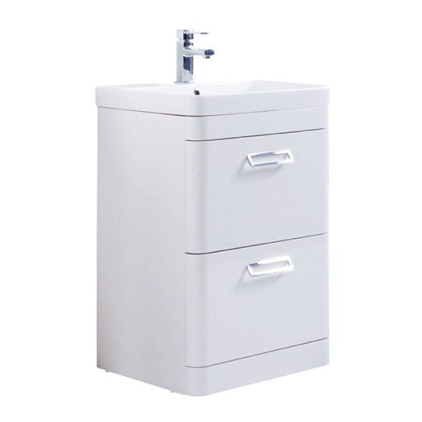 Prestige Marlow 2 Drawer Floor Standing Vanity Unit With Basin