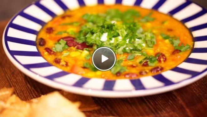 Gevulde Mexicaanse maïssoep - De Makkelijke Maaltijd   24Kitchen