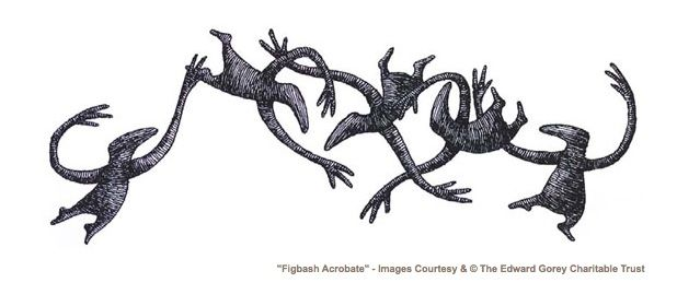 Edward Gorey Alphabet | ... of Agony : The Work of Edward Gorey reviewed in the Star Advertiser
