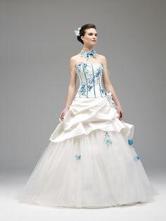 Model Alia ivoire turquoise - 2014 Annie Couture Robe de mariée