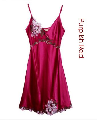 Plus Size Women Skirt Sexy Underwear Ladies Sleeping Dress Sleepwear batas de dormir de seda Nightgown Women Summer Dress pijama #Affiliate
