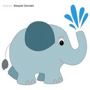 Elefant kostenlose Applikationsvorlage von Knuddelmama free applique pattern elephant