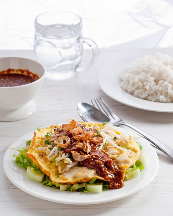 Tahu Telur - Fried omelet mixed with tofu