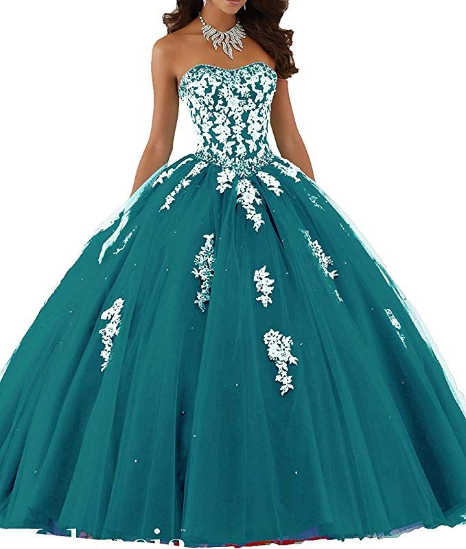 337b834fa Meledy Women s Sweetheart Sweet 16 Lace Beading Ball Gown Quinceanera  Dresses at Amazon Women s Clothing store