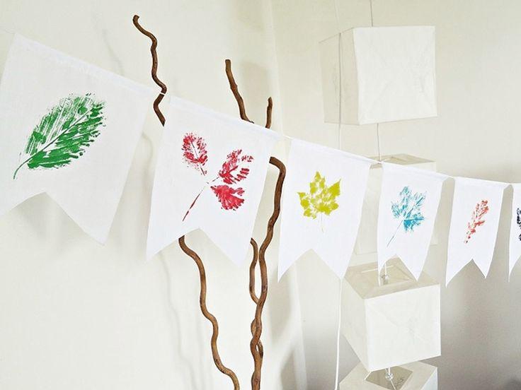 Tutoriel DIY: Créer une guirlande de fanions automnale via DaWanda.com