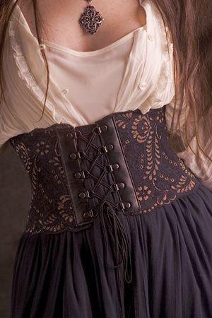 "$45+S&H; - black and gold corset belt waist sizes 22""-42"""
