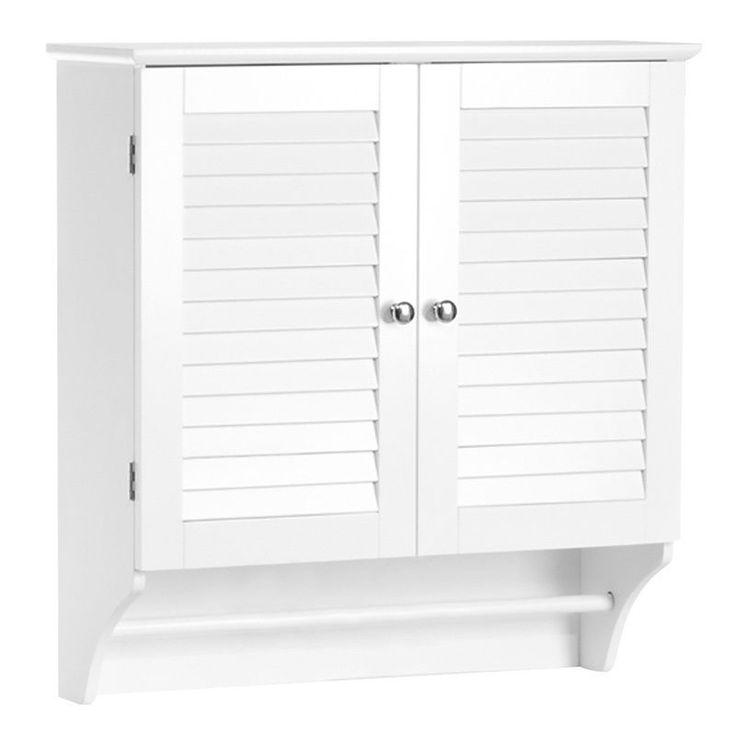 Bath Wall Cabinet Kitchen Storage Rack Towel Bar Cupboard Shelf Closet Furniture #ARSolutions