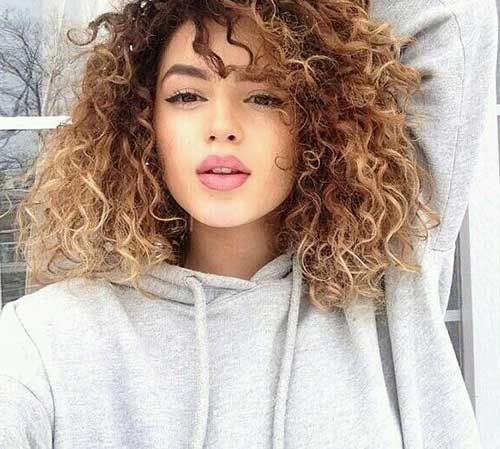 Long Light Brown Curly Hair Color