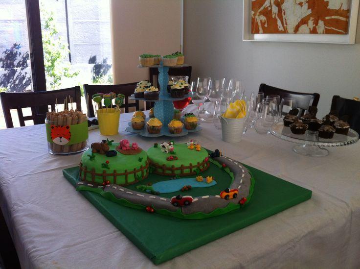 #pastelinfantil #farmcake #carscake