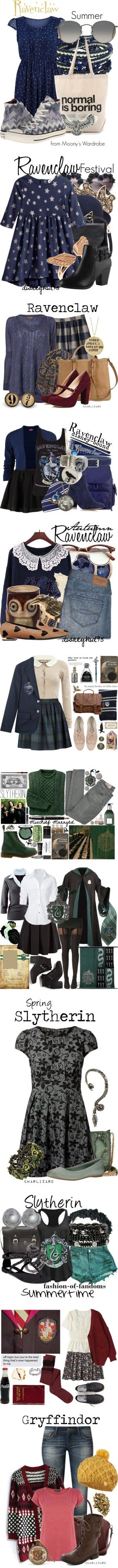 Harry Potter by starrydancer on Polyvore featuring Tenki, Dogeared, Carolina Glamour Collection, Converse, Ray-Ban, Summer, harrypotter, hogwarts, ravenclaw and Warehouse