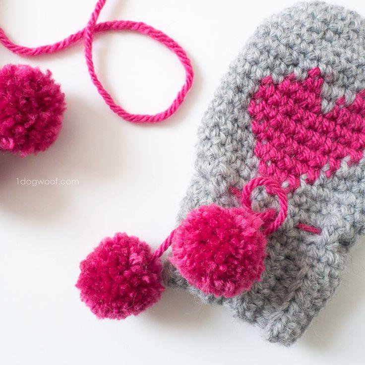 Baby Heart Mittens