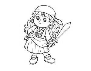 coloriage de fille pirate pour colorier coloritoucom - Dessin De Pirate