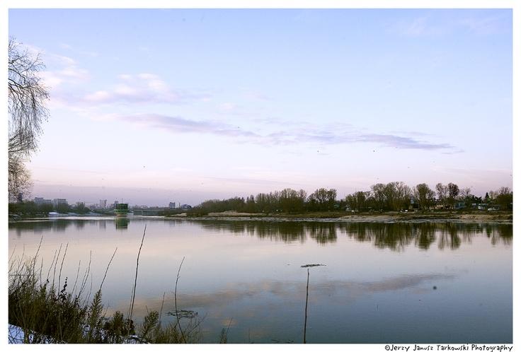 Rzeka Wisła w Warszawie...