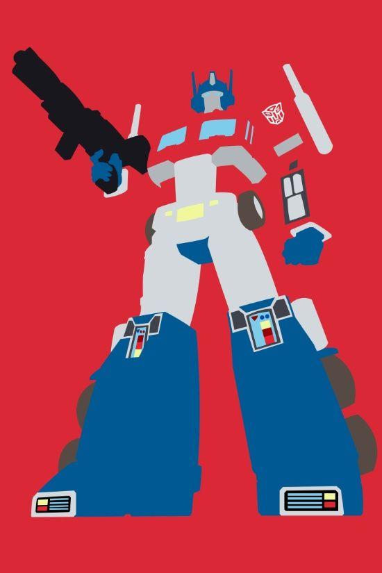 Transformers G1 Optimus Prime Minimalist Print