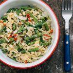 Cheesy asparagus one-pot orzo