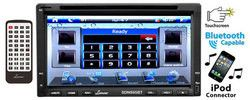 6.95'' Double-DIN Touchscreen Video DVD/MP4/MP3/CD Player With Hands-Free Bluetooth