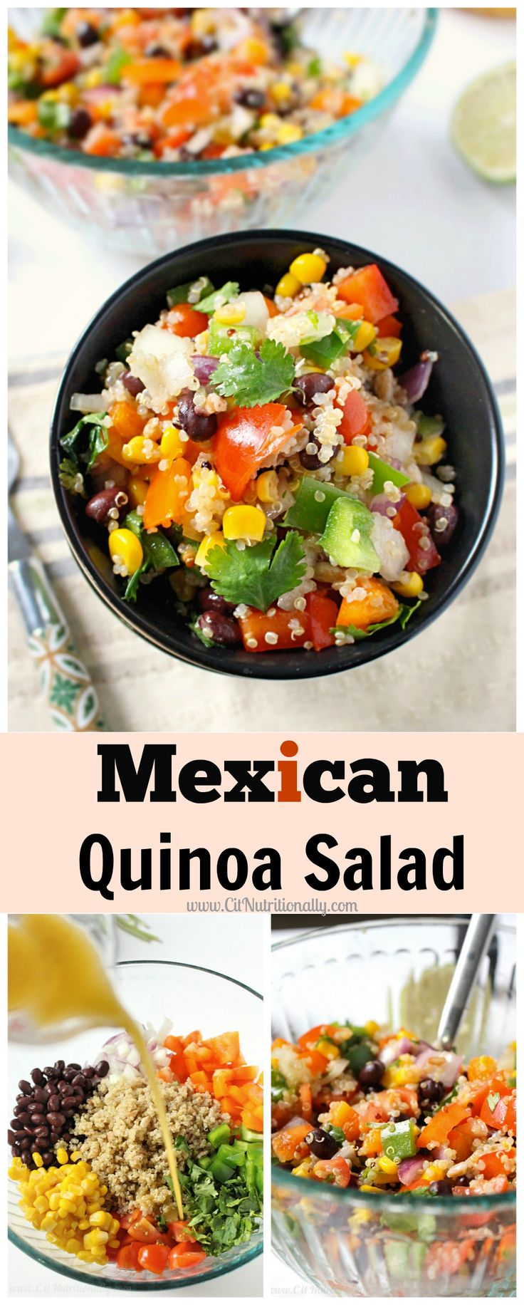 Mexican Quinoa Salad | An easy & nutritious lunch packed with plant-based protein! Plus, it's gluten free! | C it Nutritionally