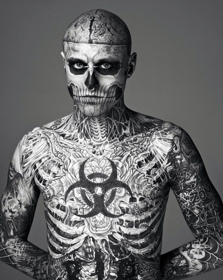 This guy did an ad for tattoo cover up make up, and he is incredibly good looking...but I like the ink, too.