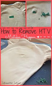 Silhouette School: How to Remove Heat Transfer Vinyl Mistakes