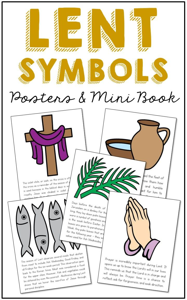 Lent Symbols Posters Coloring Pages And Mini Book Easter Holy