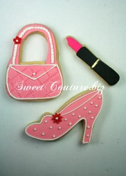 Biscuits Pink Fashion Cookies