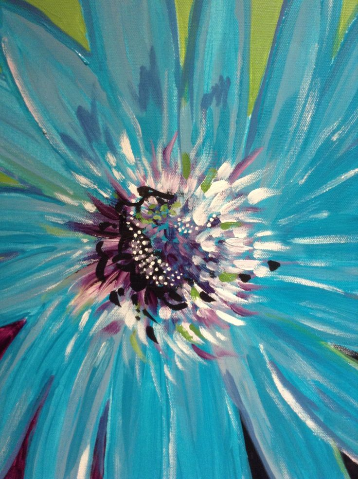 Flower Bright (Acrylic on canvas) - M.Dinelle 2013