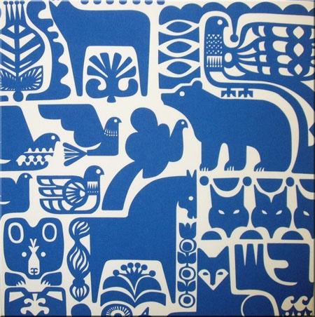 """Marimekko """"Kanteleen Kutsu"""" fabric by Sanna Annuka."""