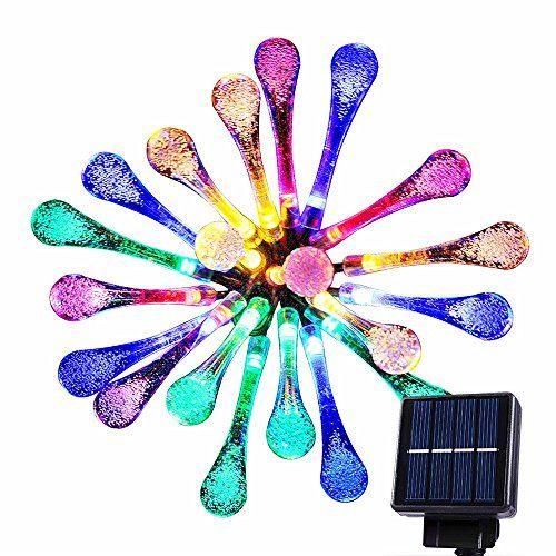 goodia led luces carmbano gotas de agua solares jardn hadas de la secuencia de las luces metros luces decorativas led para al aire